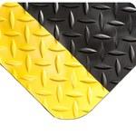 Wearwell Spongecote 414 Black/Yellow Nitricell/PVC Diamond-Plate Anti-Fatigue Mat - 3 ft Width - 5 ft Length - 715411-26232