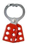 Brady Red Vinyl-Coated Steel Lockout/Tagout Hasp 105719 - 1.575 in Width - 4.97 in Height - 1.5 in Jaw Diameter - 6 Padlock Capacity - 754476-03776