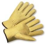 West Chester 994KF Tan 3XL Grain Pigskin Leather Work Gloves - Keystone Thumb - 994KF/3XL