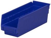 Akro-Mils 78 cu in Blue Industrial Grade Polymer Shelf Storage Bin - 11 5/8 in Length - 4 1/8 in Width - 4 in Height - 1 Compartments - 30120 BLUE