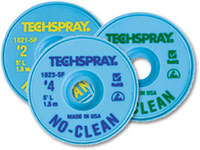 Techspray #2 Yellow No Clean Flux Core Desoldering Braid - 10 ft Length - 0.055 in Diameter - No Clean Flux Core - Lead Content - 1815-10F