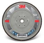 3M 769F Coated Type 29 Aluminum Oxide/Ceramic PSG Purple Flap Disc - 60+ Grit - Medium - 7 in Diameter - 05944