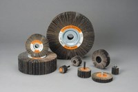 Standard Abrasives Buff and Blend 614103 A/O Aluminum Oxide AO Flap Wheel - 1/2 in Face Width - 2 1/2 in Diameter - 1/4 in Center Hole - 42930