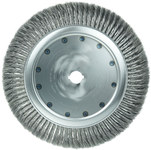 Weiler Steel Wheel Brush 0.0118 in Bristle Diameter - Arbor Attachment - 15 in Outside Diameter - 1 1/4 in Center Hole Size - 09969