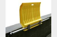 Eagle 1000 lb Yellow High Density Polyethylene (HDPE) Dockplate - 26 in Overall Length - 35 in Width - 5 in Height - 00225