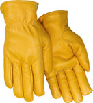Red Steer 5555 Yellow Large Grain Cowhide Leather Driver's Gloves - Keystone Thumb - 5555-L