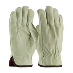 PIP 77-468 Natural Large Grain Pigskin Leather Driver's Gloves - Keystone Thumb - 10.2 in Length - 77-468/L