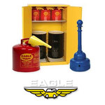 Eagle Blue Coated Steel 4 pt Safety Can - 7 1/2 in Overall Diameter - 048441-13232