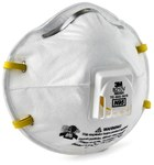 3M 8210V White Standard N95 Pleated Particulate Respirator