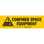Brady 60290 Black on Yellow Polyester Equipment Storage Label - Indoor / Outdoor - 12 in Width - 3 1/2 in Height - Sheet - B-302