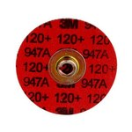 3M Cubitron II 947A Coated Ceramic Aluminum Oxide Maroon Roloc Durable Edge Quick Change Disc - Cloth Backing - X Weight - 120 Grit - Very Fine - 1 1/2 in Diameter - 54267