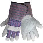 Global Glove 2300GC Brown Large Split Cowhide Leather Work Gloves - Wing Thumb - 2300GC/LG