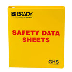 Brady Red on Yellow MSDS & GHS Data Sheet Binder - SAFETY DATA SHEETS - English - 754473-70690