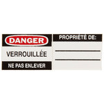 Brady 50293 Black / Red on White Rectangle Vinyl Lockout / Tagout Label - 1 1/8 in Width - 13/16 in Height - B-826