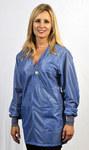 Tech Wear Large Blue V-Neck ESD / Anti-Static Jacket - VOJ-23C-L