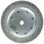 Weiler Steel Wheel Brush 0.02 in Bristle Diameter - Arbor Attachment - 14 in Outside Diameter - 1 1/4 in Center Hole Size - 08339
