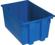 Quantum Storage 1.7 ft Blue Industrial Grade Polymer Stackable Tote - 23 1/2 in Length - 15 1/2 in Width - 12 in Height - 03927