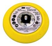 3M Stikit 81821 Medium Yellow PSA Disc Pad - 5 in Diameter - 3/4 in Thick - 5/16-24 External Thread Attachment