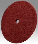 3M Scotch-Brite HS-DC Aluminum Oxide Deburring Disc - Very Fine Grade - Arbor Attachment - 10 in Diameter - 1 in Center Hole - 05307