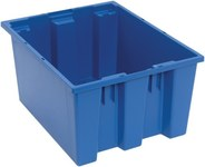 Quantum Storage 1.2 ft Blue Industrial Grade Polymer Stackable Tote - 19 1/2 in Length - 15 1/2 in Width - 10 in Height - 03897