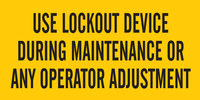 Brady B-946 Vinyl Rectangle Yellow Lockout Sign - 4 1/2 in Width x 2 1/4 in Height - Self-Adhesive - 60170