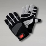 3M WG Black/Gray Small Synthetic Leather Work Gloves - Rough Finish - 70006734720