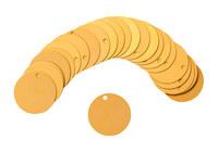 Brady 87608 Gold Circle Aluminum Blank Valve Tag - 2 in Dia. Width - B-906