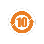 Brady RCH10-30-423-1 Orange on White Polyester RoHS Label - B-423