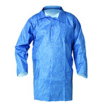 Kimberly-Clark Kleenguard A60 Blue 3XL Microporous Composite Fabric Chemical-Resistant Lab Coat - 2 Pockets - 036000-27326