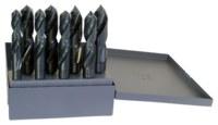 Chicago-Latrobe 190F Reduced Shank Drill Set - Split 118° Point - Spiral Flute - Right Hand Cut - High-Speed Steel - 69859