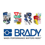 Brady 52793 Black on Yellow Pipe Banding Tape - 2 in Width - 18 ft Length - 16916