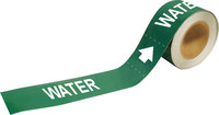 Brady Pipe Markers-To-Go 20481 Green Plastic Water Self-Adhesive Pipe Marker - 1 in Height - 8 in Length - B-736