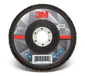 3M 769F Coated Type 29 Aluminum Oxide/Ceramic PSG Purple Flap Disc - 60+ Grit - Medium - 5 in Diameter - 7/8 in Center Hole - 05917