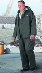 Dunlop Webtex 76018 Green Large Polyester/PVC Rain Suit - 2 Pockets - Fits 54 in Chest - 30 in Inseam - 791079-14163