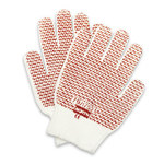 North Grip N Brown/White Small Cotton/Polyester Work Gloves - Nitrile Dotted Both Sides Coating - 79/1752S