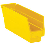 Yellow Shelf Bins - 11.625 in x 2.75 in x 4 in - SHP-3095