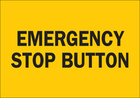 Brady B-401 Polystyrene Rectangle Yellow Shutoff Location Sign - 10 in Width x 7 in Height - 25044