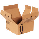 Shipping Supply Kraft 1 Quart Haz Mat Boxes - 9.4375 in x 9.4375 in x 5 in - SHP-2211