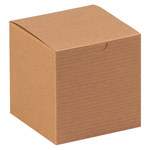 Kraft Colored Gift Boxes - 4 in x 4 in x 4 in - SHP-3359