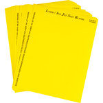 Brady 12832 Yellow Polyester Ink-Jet, Laser Printable Label - 2.5 in Width - 1 3/4 in Height - B-744