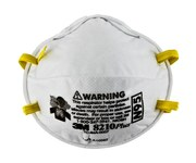 3M 8210Plus White Standard N95 Molded Cup Particulate Respirator - 051131-52924