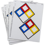 Brady 59250 Blue / Red / Yellow on White Vinyl Laser Printable Label - 4 in Width - 4 in Height - B-745