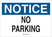 Brady B-555 Aluminum Rectangle White Parking Restriction, Permission & Information Sign - 10 in Width x 7 in Height - 122415