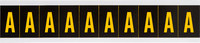 Brady 7890-A Yellow on Black Vinyl Letter Label - Indoor / Outdoor - 7/8 in Width - 1 1/2 in Height - 1 in Character Height - B-946