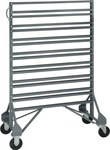Quantum Storage 1600 lb Gray Steel Double Sided Rail Rack - 36 in Overall Length - 53 in Height - Bins Not Included - 02683