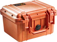 Pelican Protector Case 1300 WL/WF Orange Polypropylene Protective Hard Case - 10.62 Overall Length - 9.68 Width - 6.87 in Height - 13002