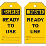 Brady 86551 Black on Yellow Polyester General Inspection General Inspection Tag - 3 in Width - 5 3/4 in Height - B-851