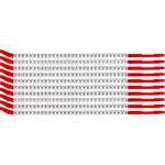 Brady Clip Sleeve SCNC-10 Black on White Nylon Clip-On Sleeve - 32891