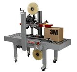 3M A20 3M-Matic Tape Case Sealer - 30 Cases Per Minute - 1 1/2 & 2 in Tape compatibility - Max Box Size 21 1/2 in W x 21 1/2 in H - Manual Adjustability - Bottom Belt - 051115-25542
