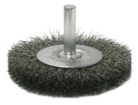 Weiler Steel Radial Bristle Brush - 2 1/2 in Outside Diameter - 0.008 in Bristle Diameter - 17959